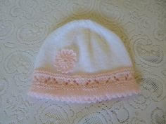 Knitted Newborn Dress and Bonnet Set. Coming Home Set. by Pitusa