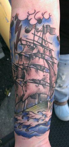 Super fun piece! Thanks Lynn!! You sat well!  Done @ Straight A Tattoo!!