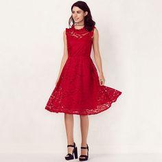 Women's LC Lauren Conrad Mockneck Floral Lace Dress