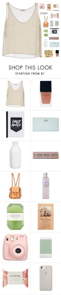 """""""♡ there's bravery in being soft"""" by solastamel ❤ liked on Polyvore featuring Valentino, Kenzie, Witchery, Kate Spade, Crate and Barrel, Chloé, Laura Mercier, Pelle, H&M and Fujifilm"""