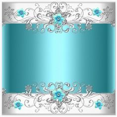 teal flowers & silver - uploaded by Lynn White