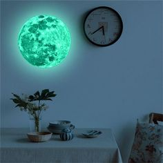 Luminous Moon Earth Cartoon DIY Wall Stickers for Kids Room Bedroom Glow In The Dark Wall Sticker Home Decor Living Room(China) Wall Stickers Glow In The Dark, Cheap Wall Stickers, Wall Stickers Home Decor, Window Stickers, Wall Decals, Mural Wall, Planet Colors, Diy 2019, Diy 3d