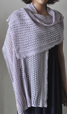 Panda Silk Weekender Lace Wrap Stole -  free lace stole knitting pattern  -  Crystal Palace Yarns