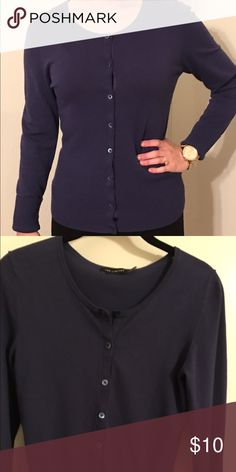 Beautiful Blue! The Limited Cardigan Good Condition Deep Blue Cardigan.  Size Small. The Limited Tops Button Down Shirts