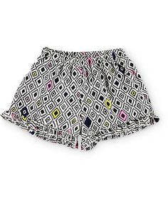 Trillium Macy Multi Geo Ruffle Shorts