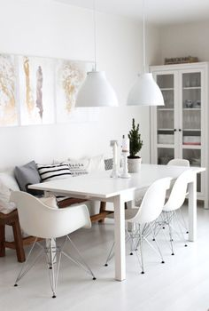 Dining Room Rules: Industrial Dining Room Lighting As The Key Fixture Decor, Dining Room Design, Living Dining Room, House Design, Beautiful Dining Rooms, Home And Living, Interior, Home Decor, House Interior
