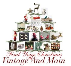 Finds Your Christmas at Vintage And Main!  Charming vintage decor and fashion for the holiday season at  10% OFF with coupon code VINTAGEANDMAIN10 Come browse our special holiday collection. www.etsy.com/pages/vintageandmain/deck-the-halls