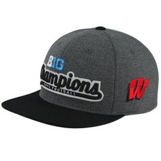 Top of the World Wisconsin Badgers 2012 Big Ten Football Champions Locker Room Snapback Hat - Gray