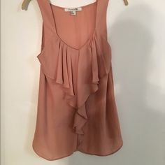 Forever 21 blouse Super cute ruffly blouse tank! Looks great tucked or untucked. Like new! Forever 21 Tops Blouses