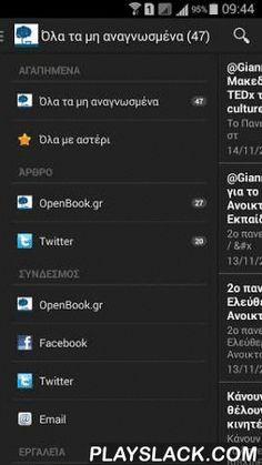 OpenBook.gr  Android App - playslack.com , Δωρεάν εφαρμογή android με όλα τα νέα της Ανοιχτής Βιβλιοθήκης OpenBook.gr (Giannis Farsaris / Γιάννης Φαρσάρης): http://www.openbook.grhttps://www.facebook.com/openbook.grhttps://twitter.com/giannisfarsarisopenbook.gr@gmail.com ――――――― Development of Android application by Automon (Antonis…