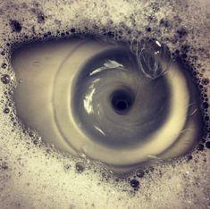 Sink draining.