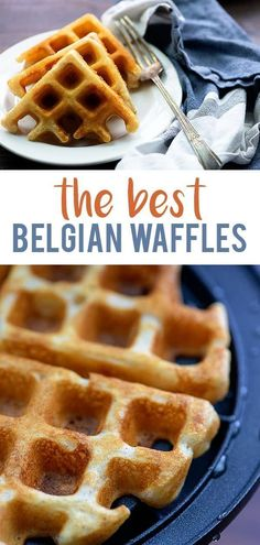 Home Made Doggy Foodstuff FAQ's And Ideas These Are The Best Belgian Waffles They Beat Any Restaurant Recipe. We Use This Waffle Recipe Every Weekend. It's The Best Way To Celebrate A Lazy Sunday. Best Belgian Waffle Recipe, Best Waffle Recipe, Waffle Iron Recipes, Belgium Waffle Recipes, Overnight Waffle Recipe, Waffle Recipe From Scratch, Belgian Waffle Iron, Belgian Recipes, Best Breakfast Recipes