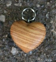 Wooden heart keychain!