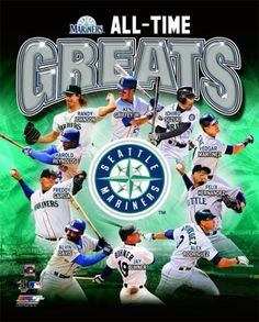 Seattle Mariners Baseball All-Time Greats (10 Legends) Premium Poster Print - ~available at www.sportsposterwarehouse.com
