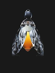 8 Outrageously Expensive and Gorgeous Perfume Bottles. Bee In Silver Wings, Baccarat for Guerlain