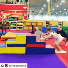 As gymnastics coaches, we know how important handstands are — they are everywhere! Helping kids feel comfy upsidedown and on their hands is one of our greatest challenges! Here are 10 creat… Gymnastics Games, Gymnastics Handstand, Toddler Gymnastics, Gymnastics Lessons, Gymnastics Routines, Preschool Gymnastics, Gymnastics Room, Tumbling Gymnastics, Gymnastics Coaching