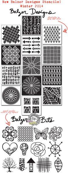 Balzer Designs - her new stencils for 2014!!!