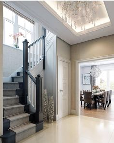 Transitional Staircase | Beautiful Escapes At Home | Pinterest | Foyers,  Staircases And Transitional Decor