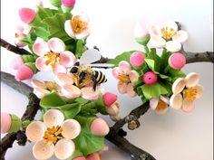 Bridgit's Quilling Birnen-, Kirschen, Pflaumen- und Mandelblüten (2. Teil) - YouTube