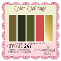 Our Daily Bread designs Blog: ODBDSLC261 Color Challenge