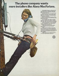 1972 Bell Telephone AT&T Ad Woman in the Workforce by AdVintageCom