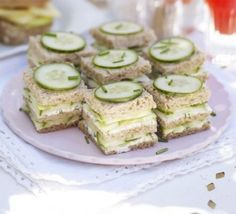 Baby shower food brunch tea sandwiches 61 Ideas for 2019 Tea Party Sandwiches, Finger Sandwiches, Cucumber Sandwiches, Bridal Shower Sandwiches, Sandwiches For Afternoon Tea, Wedding Sandwiches, Bbc Good Food Recipes, Tea Recipes, Picnic Recipes