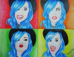 Demi Lovato painting Realistic Drawings, Love Drawings, Art Drawings, Celebrity Drawings, Demi Lovato, American Singers, Art Forms, Disney Characters, Fictional Characters