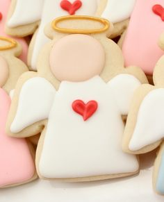 Royal Icing Tutorial Angel Cookies for Sandy Hook Elementary School