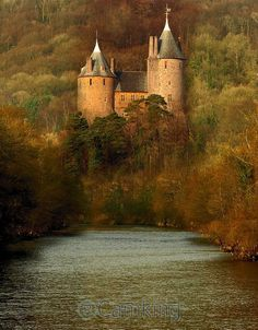Castell Coch (Red Castle) is a 19th century Gothic Revival castle built on the remains of a genuine 13th century fortification, Tongwynlais, Cardiff, Wales.                                                                                                                                                                                 More