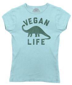 Women's Brontosaurus Vegan Life T-Shirt - Funny Vegan Shirt – Boredwalk Vegan Humor, Vegan Funny, Graphic Shirts, Printed Shirts, Vegan Quotes, Dinosaur Funny, Vegan Shopping, Vegan Clothing, Funny Shirts