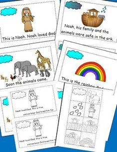 Freebie!!!!!!THE STORY OF NOAH - Let's Learn S'more! Please  take a moment to rate this free product! TeachersPayTeachers.com