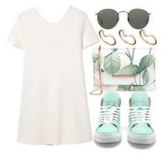 """CROSTY"" by sweetnovember19 ❤ liked on Polyvore featuring Ted Baker, MANGO, Ray-Ban and ASOS"