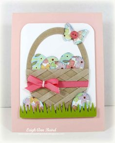 Adorable Easter card. Love the basket