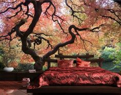 Photo Wall Mural Japanese Garden