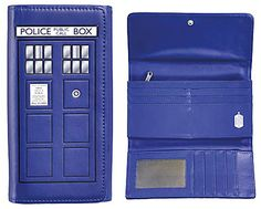 Doctor Who -Tardis Large wallet, apparently found at Hot Topic