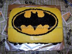 Batman Birthday Cake Picture-with instructions