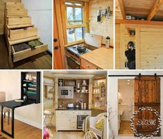 27 space saving tips for tiny houses space-saving-main Love the stairs and the table! Tiny House Movement, Tiny House Plans, Tiny House On Wheels, Mini Loft, Little Houses, Tiny Houses, Space Saving Furniture, Small Furniture, Small Places