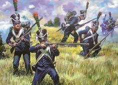 Chasseurs en uniforme de antes de 1812 Más en www.elgrancapitan.org/foro