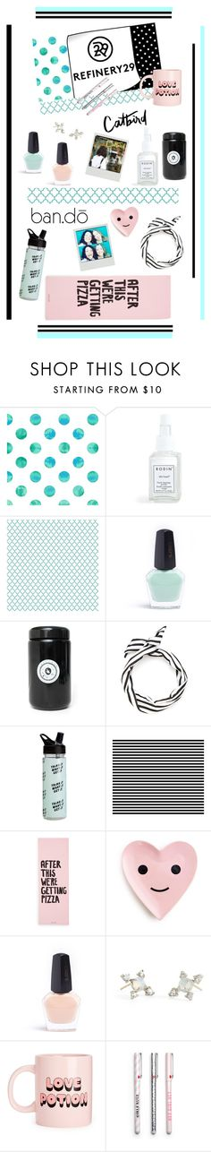 """""""Upgrade Your Chic With Refinery29'"""" by dianefantasy ❤ liked on Polyvore featuring interior, interiors, interior design, home, home decor, interior decorating, Rodin and ban.do"""