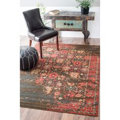 nuLOOM Traditional Persian Modern Vintage Multi Rug (5'3 x 7'7) | Overstock.com Shopping - The Best Deals on 5x8 - 6x9 Rugs