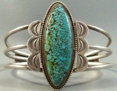 RARE *LARGE* Navajo NUMBER 8 SPIDERWEB Turquoise Sterling Silver Cuff Bracelet #NavajoOldPawn Navajo Jewelry, Western Jewelry, Turquoise Jewelry, Silver Jewelry, Unique Jewelry, Ethnic Jewelry, Turquoise Cuff, Vintage Turquoise, Turquoise Bracelet