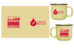 January 27 - February 22  Receive a free campfire style mug when you register to give blood.