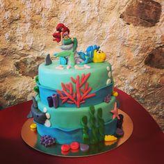 Little Mermaid Cake Little Mermaid Cakes, The Little Mermaid, Beautiful Cakes, Birthday Cake, Desserts, Food, Tailgate Desserts, Deserts, Birthday Cakes