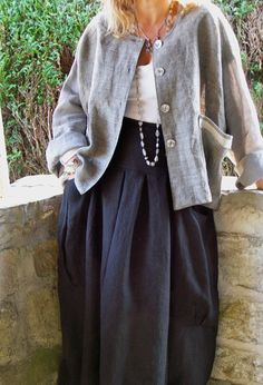 Jacket: use heavy linen and base on wide top pattern, but maybe shorten shoulders.