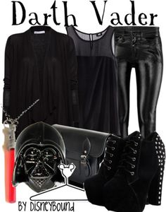 Darth Vader outfit wars (my nerdom has reached new heights. Disney Mode, Disney Disney, Disneybound Outfits, Disney Inspired Fashion, Disney Fashion, Disney Themed Outfits, Disney Dresses, Estilo Disney, Star Wars Outfits