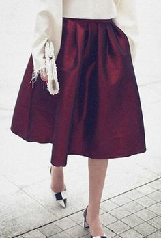A beautiful #burgundy skirt for your next #holidayparty
