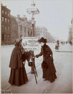 1906 Salvation Army Christmas Kettle 13th Street and 7th Avenue Photo Byron Company