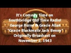 "Burns and Allen ""Gracie Blackmails Jack Benny"" - YouTube"