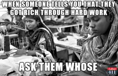 Whose hard work?