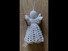 Aniołek na szydełku boże narodzenie choinka - YouTube Crochet Christmas Decorations, Christmas Crochet Patterns, Crochet Ornaments, Crochet Snowflakes, Crochet Tree, Crochet Angels, Dishcloth Knitting Patterns, Knit Dishcloth, Crochet Angel Pattern